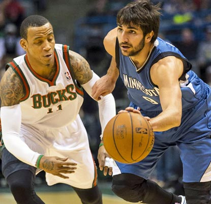 Ricky Rubio toys with Monta Ellis and the Bucks to the tune of 18 points, 12 assists and eight steals.  (USATSI)