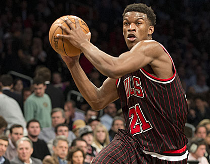 Jimmy Butler scores 16 points with 10 boards to help Chicago erase a 16-point deficit and beat Brooklyn. (Getty Images)