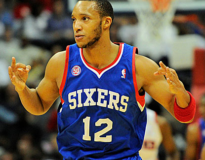 Evan Turner scores 24 points and grabs 11 rebounds, which is very encouraging for the struggling Sixers. (Getty Images)