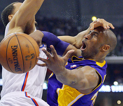 The Clippers complete the season sweep of Kobe and the Lakers while hurting their rival's postseason chances.  (AP)