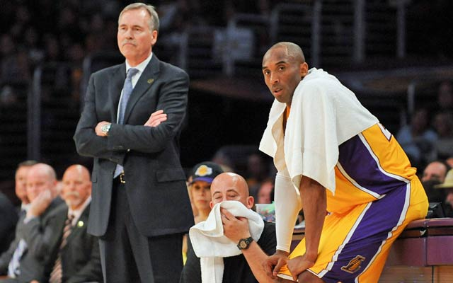 Mike D'Antoni is drawing fire for playing Kobe Bryant so much. (Getty Images)