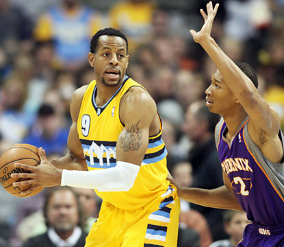 Andre Iguodala (20 points, five assists, five boards) and the Nuggets wrap up the best home record (38-3) in the NBA. (USATSI)