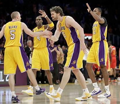 From possibly missing the postseason to securing the seventh seed, the Lakers feel mighty good after downing the Rockets in OT. (AP)