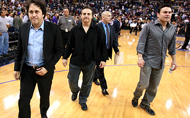 Co-owners George (from left), Gavin and Phil Maloof like Seattle's offer for the Kings. (Getty Images)