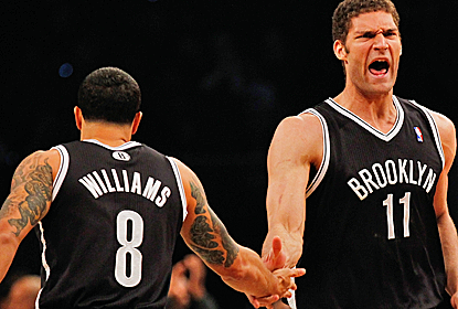 Deron Williams and Brook Lopez combine for 43 points as the Nets jump on the Bulls early and never let up.  (Getty Images)