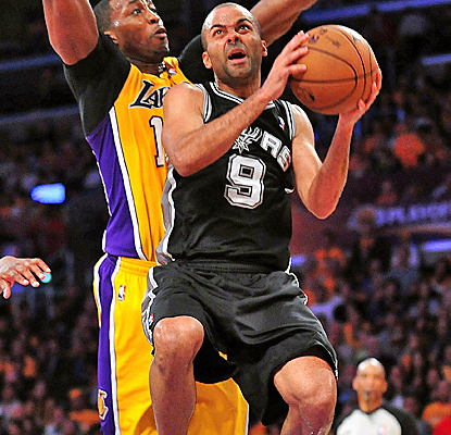Tony Parker scores 20 points to go with seven assists as the Spurs seize total control of the series.  (USATSI)