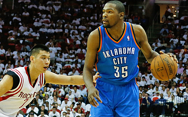 Kevin Durant says he's not leaving OKC just because he signed with Jay-Z.     (USATSI)