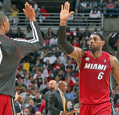 LeBron James (30 points) and the Heat beat the Bucks four straight times by double digits. (Getty Images)
