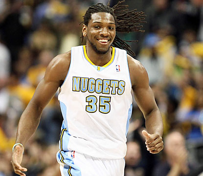 Kenneth Faried (13 points, 10 rebounds) and the Nuggets dig deep in Game 5 to keep their playoff hopes alive. (USATSI)