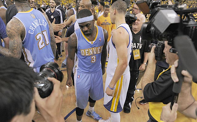 If one close call in the final seconds goes Denver's way, maybe Ty Lawson is the one celebrating. (Getty Images)