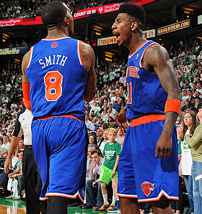J.R. Smith and Iman Shumpert combine for 30 points as the Knicks finally dispose of the Celtics.  (Getty Images)