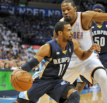 Mike Conley finishes one assist shy of a triple-double as he puts up 26 points, 10 rebounds and nine dimes. (USATSI)
