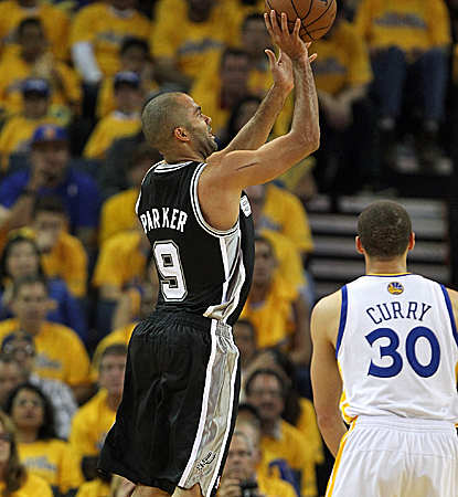 Tony Parker sets the tone with 25 first-half points as the Spurs bounce back from a Game 2 loss.  (Getty Images)