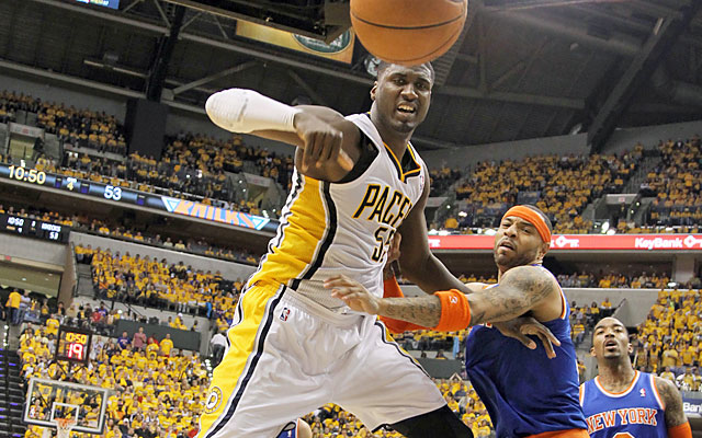 'Tonight was going to be my night,' said Hibbert, who finishes with 24 points and 12 rebounds. (USATSI)