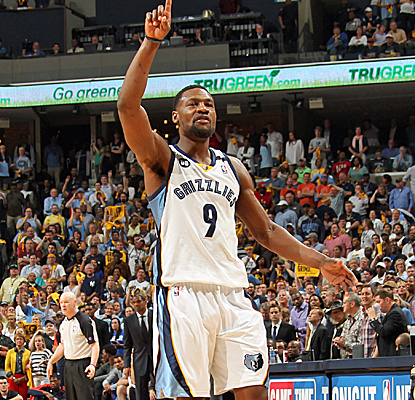 Tony Allen scores a huge bucket in overtime as the Grizzlies take a commanding 3-1 series lead over OKC.  (Getty Images)