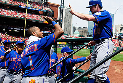 Daniel Murphy is a popular man among the Mets after going 4 for 4 and wrapping up the series with 10 hits. (Getty Images)