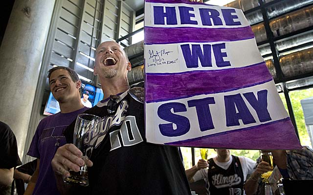 Fans celebrating NBA owners' backing of Sacramento had more to cheer with Friday's sale of the Kings. (Getty Images)