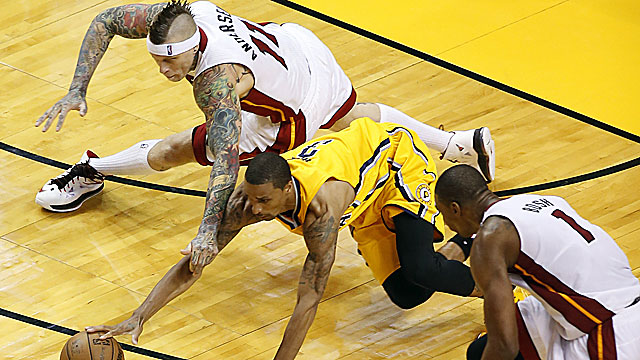Reinstated from a NBA ban two years ago, Chris Andersen has played a key role for the Heat in the playoffs. (USATSI)