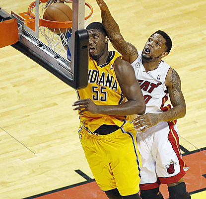 Roy Hibbert is causing the Heat all kinds of problems, posting 29 points and 10 boards in an Indiana win.  (USATSI)
