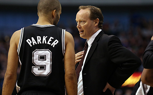 Mike Budenholzer, hired to coach the Hawks, will stay with the Spurs through the playoffs. (USATSI)