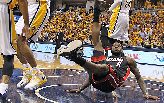 The NBA comes down on LeBron James' improvisational acting. (USATSI)