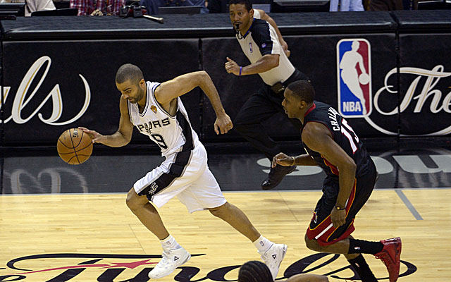 Tony Parker says his hamstring would keep him out 10 days if this were the regular season. (USATSI)
