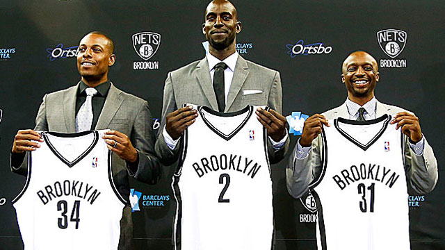 Many see conspiracies as the Nets assemble All-Stars Paul Pierce, Kevin Garnett and Jason Terry. (USATSI)