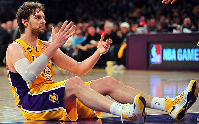 Pau Gasol is one of the Lakers left behind, but the club is in decent position to get off the deck. (USATSI)