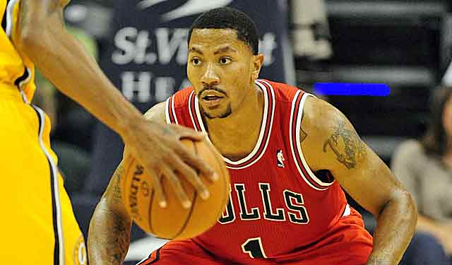 Derrick Rose scores 13 points in 20 minutes vs. Indiana on Saturday night. (USATSI)
