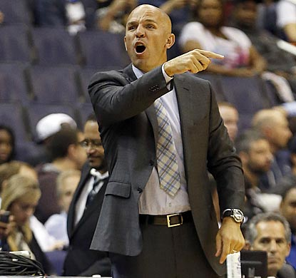 Jason Kidd, fresh off completing an 18-year playing career, asserts himself in his first preseason game as a head coach.  (USATSI)