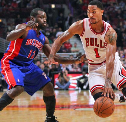Good as new: Derrick Rose delights the Chicago crowd with 22 points on 6 of 9 shooting from the field.  (USATSI)