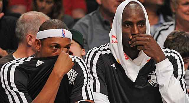 Kevin Garnett won't decide based on Paul Pierce's decision to leave Brooklyn.  (USATSI)
