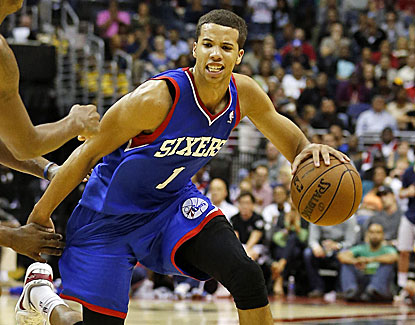 Philly's Michael Carter-Williams goes6 for 15 from the field after an 0-for-5 start and finishes with 14 points. (USATSI)