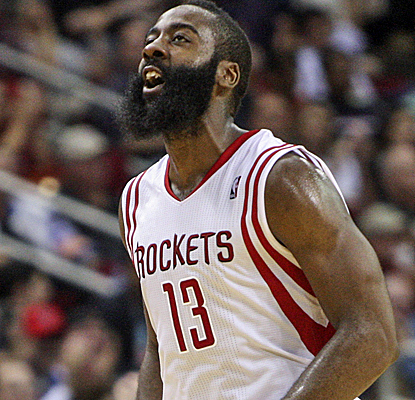 James Harden scores 34 points to go with Dwight Howard's double-double and the Rockets improve to 2-0.  (USATSI)