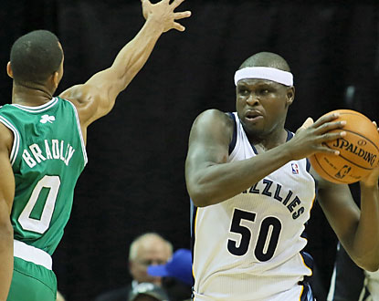 Zach Randolph is one of three Grizzlies to score a team-high 15 points against the Celtics. (USATSI)