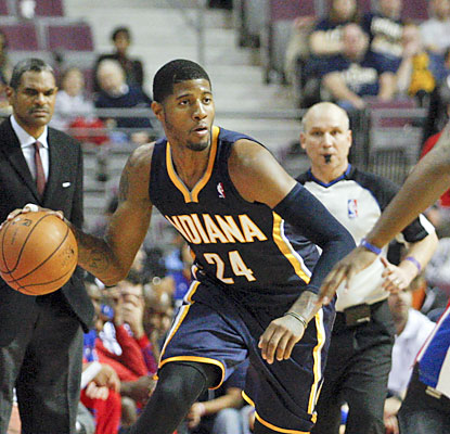 Paul George pours it on against the Pistons, scoring a game-high 31 points to help Indiana move to 4-0. (USATSI)
