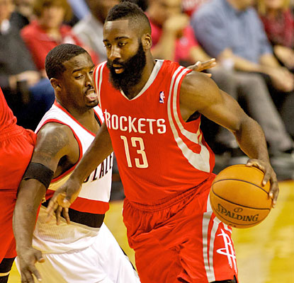 James Harden (33 points) helps the Rockets, playing for the fourth time in five nights, bounce the Rockets and improve to 4-1. (USATSI)