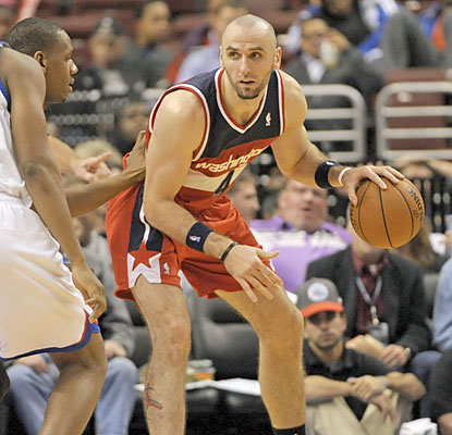 Marcin Gortat (19 points), who brings down 12 boards, is one of seven Wizards to score in double figures. (USATSI)