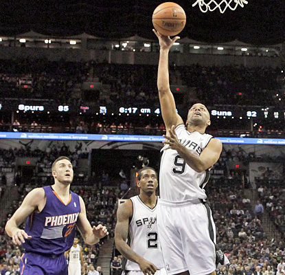 Tony Parker scores 20 points, including 15 of the Spurs' final 16, to help fend off the Suns. (USATSI)