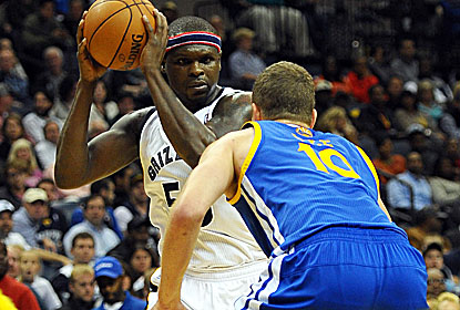 Zach Randolph and the Grizzlies beat the Warriors for the 10th straight time despite the return of Stephen Curry (22 points). (USATSI)