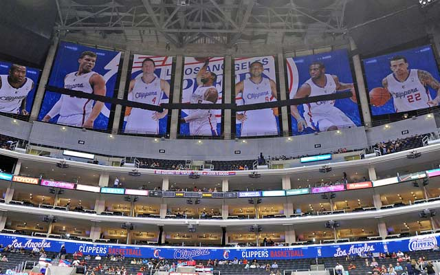 Doc Rivers set the tone by covering up the Lakers' banners at Staples Center. (USATSI)