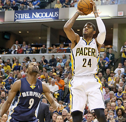 Paul George scores a game-high 23 points as the Pacers stay hot against the Grizzlies. (USATSI)