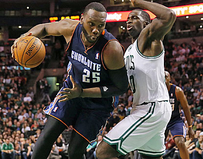 Charlotte's Al Jefferson scores 22 points and grabs 11 rebounds, leading the Bobcats over the Celtics. (USATSI)