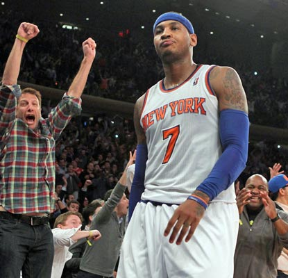Carmelo Anthony puts on a show for Knicks fans in a losing effort, scoring an NBA single-game high for the season.  (USATSI)