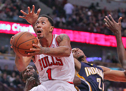 Derrick Rose (hamstring) returns to the court and helps the Bulls hand the Pacers their first loss in the form of a beatdown. (USATSI)