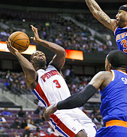 Rodney Stuckey scores 15 of his 21 in the second half and the Pistons beat the Knicks for the first time in eight tries. (USATSI)