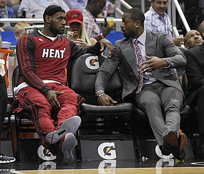 Dwyane Wade sits out again, but LeBron James and the rest of the Heat don't work up too much of a sweat in handling the Magic.  (USATSI)