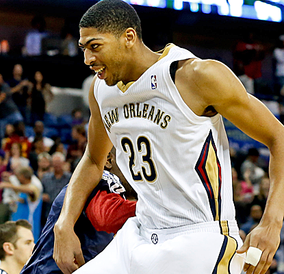 Anthony Davis tallies 17 points and 13 rebounds as the Pelicans rally to knock off the Cavaliers.  (USATSI)
