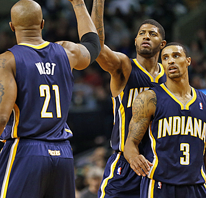 The Pacers get 27 points from Paul George in erasing an eight-point