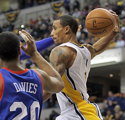 George Hill scores 11 points as each of the Pacers' starters finish in double figures. (USATSI)